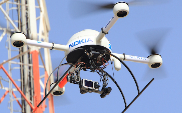 Network infrastructure, drone, drones, Nokia, du, wireless, technology